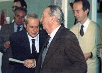 il Prof Mario Silvestrini Biavati ed il Prof Mauro Viti ad un convegno