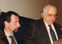 Enrico Gherlone nel 1996 assieme a Mario Martignoni ad un convegno a Napoli