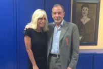 Il Prof.Gherlone con Donatella Versace: l'eleganza di un sorriso