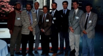 Il Prof. Gherlone assieme al Prof. Sandro Palla di Zurigo, Riccardo Ciancaglini ed altri ad un congresso sull'occlusione organizzato presso il San Raffaele