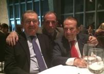 il prof E.Gherlone tra i prof.i Giannì e Santoro ad una cena di lavoro nel 2014