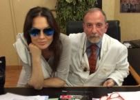 Il Prof E. Gherlone con Anna Oxa