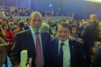 Luc Montaigner, premio Nobel per la Medicina, premiato assieme al Prof. Gherlone dalla Scuola Medica Salernitana rispettivamente per la ricerca medica e la ricerca odontoiatrica - Salerno, 28 ottobre 2011