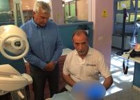 Il Prof E. Gherlone al lavoro assieme a Paolo Malo