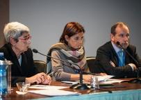 La Prof. L.Strohmenger e la Prof. A.Polimeni assieme al Prof. E.Gherlone alla Conferenza stampa indetta presso il 7° Expo di Autunno 2013