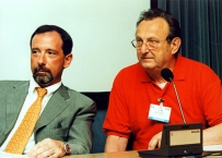 Enrico Gherlone con Ivano Casartelli, nell'anno 2000 alla presentazione del suo volume sull'impronta in protesi dentale