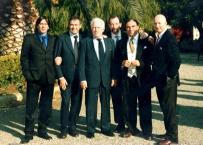 Il Prof. Enrico Gherlone con il Prof. Linkow, il Prof. Covani, il Prof. Grassi,  il dott. Fede latronico  e Gianni Nagni ad un Congresso svoltosi a Bari nel 2000