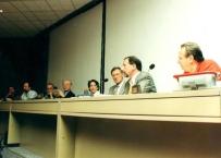 Presentazione del volume sull'Impronta in Protesi Dentale, Congresso Amici di Brugg anno 2000, si riconoscono assieme a Gherlone: Carlo Guastamacchia,Fabio Toffenetti, Ivano Casartelli